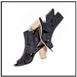 Free People Cutout Ankle Boots